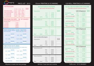 2015 - CC Price List